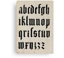 Measurement With Compass Line Leveling Albrecht Dürer or Durer 1525 0140 Alphabet Letters Calligraphy Font Canvas Print