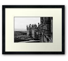 Bolsover Castle, Derbyshire, England, BW Framed Print