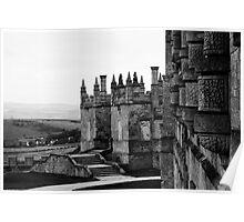Bolsover Castle, Derbyshire, England, BW Poster