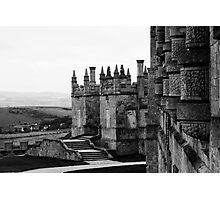 Bolsover Castle, Derbyshire, England, BW Photographic Print