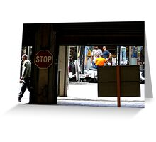 Chit Chatting on Rundle Greeting Card
