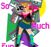 Crazy 80s Girl Boombox by Niblette