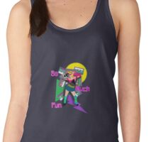 Crazy 80s Girl Boombox Women's Tank Top