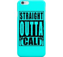 Black Vintage Straight Outta Cali iPhone Case/Skin