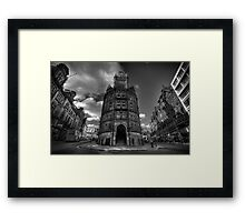 King Street Notts v2.0 BW Framed Print