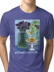 Flowers & Fruits Still Life Tri-blend T-Shirt