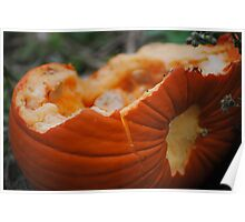 Smashed Pumpkin Poster