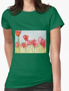 Field of tulips Womens Fitted T-Shirt