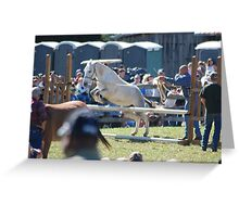 Mule Jump contest Greeting Card