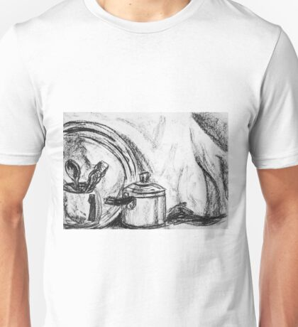 Still life in charcoal Unisex T-Shirt