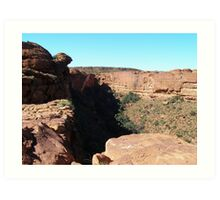 Sheer Walls of Kings Canyon. Northern Territory.  Art Print