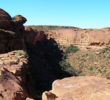 Sheer Walls of Kings Canyon. Northern Territory.  by Rita Blom