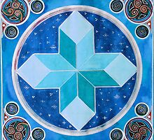 Mandala : Cross by danita clark