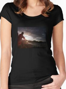 Sailing into the Sunset Women's Fitted Scoop T-Shirt