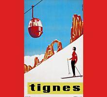 She Skis Alone, Vintage ski sport poster art T-Shirt