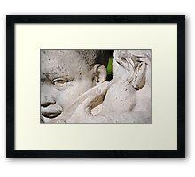 Whispering Children Framed Print