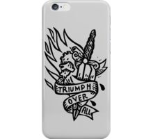 Dagger and Heart - Black iPhone Case/Skin