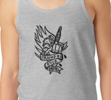 Dagger and Heart - Black Tank Top