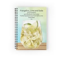 Frangelico, Lime and Soda Recipe Card Spiral Notebook
