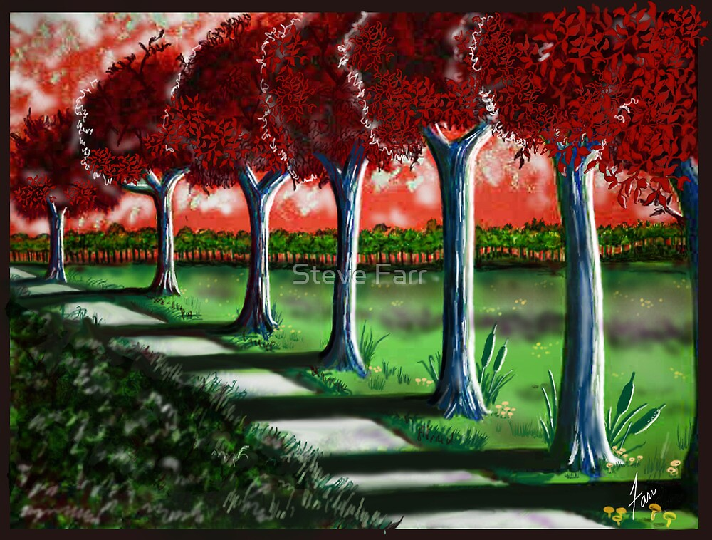 """""""Red Tree Path""""  by Steve Farr"""