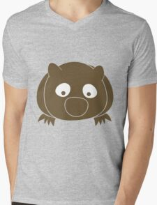 Wombat Mens V-Neck T-Shirt