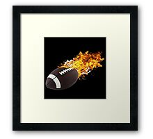 Flaming FootBall Framed Print