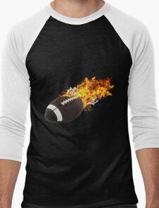 Flaming FootBall Men's Baseball ¾ T-Shirt
