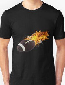 Flaming FootBall Unisex T-Shirt