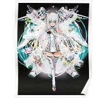 Female Anime Warrior Poster