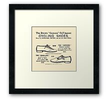 Vintage Bicycle Shoes Advert - Circa 1895 Framed Print