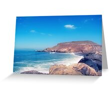 when the sky is clear i can see your heartbeat from across the ocean Greeting Card