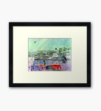 El bote rojo - The red boat Framed Print