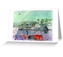 El bote rojo - The red boat Greeting Card