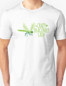 Crazy Dragonfly lady (Cute) Unisex T-Shirt
