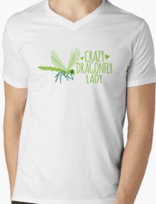 Crazy Dragonfly lady (Cute) Mens V-Neck T-Shirt