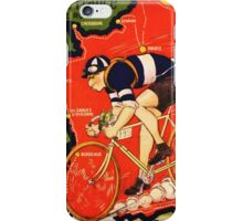 Vintage French bicycle race sport poster art iPhone Case/Skin