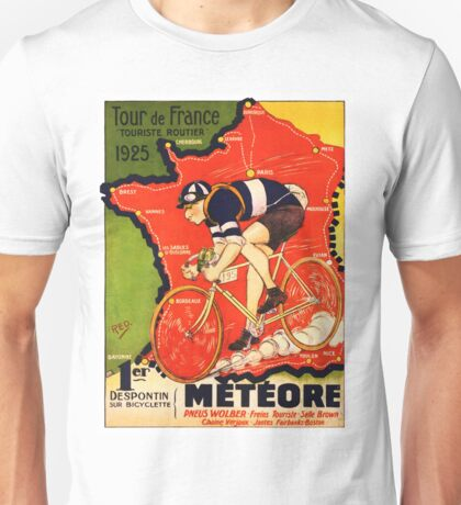 Vintage French bicycle race advert Unisex T-Shirt