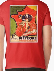 Vintage French bicycle race advert Mens V-Neck T-Shirt
