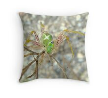 Green Lynx Spider Throw Pillow