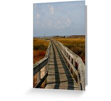 Walkway through Fields of Serenity... Greeting Card