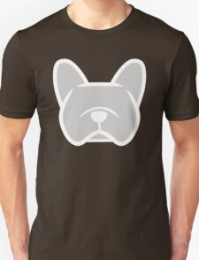 French bulldog face in solid gray by Smooshface United Unisex T-Shirt