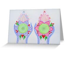 Mandala : Twins  Greeting Card
