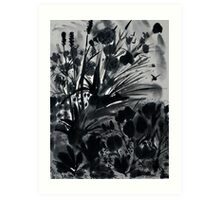 Urban Black-Sumi-e-Art Japanese ink Painting Art Print