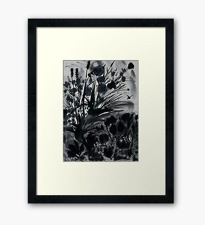 Urban Black-Sumi-e-Art Japanese ink Painting Framed Print