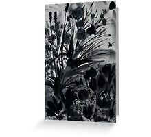 Urban Black-Sumi-e-Art Japanese ink Painting Greeting Card