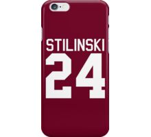 Stiles Stilinski's Jersey - white text iPhone Case/Skin