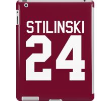 Stiles Stilinski's Jersey - white text iPad Case/Skin
