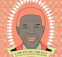 Tata Madiba - A Good Heart (in peach) by catherine barnhoorn