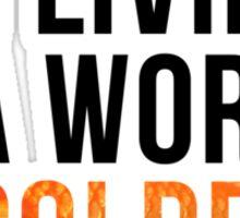 Living in a World of Goldfish - Mycroft H Sticker