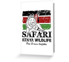 Kenya Lion Flag - Vintage Look Greeting Card